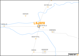 map of La Jara