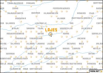 map of Lajes