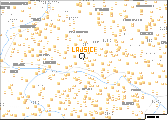 map of Lajšići