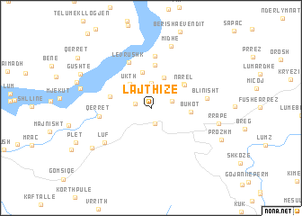 map of Lajthizë