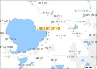 Apopka Florida Map.Lake Apopka United States Usa Map Nona Net