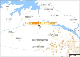 Lake Cumberland West (United States - USA) map - nona.net