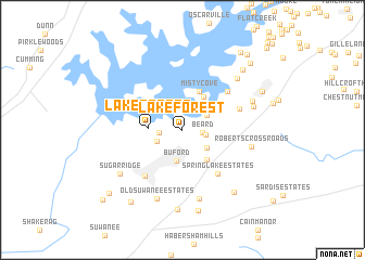 map of Lake Forest