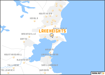map of Lake Heights