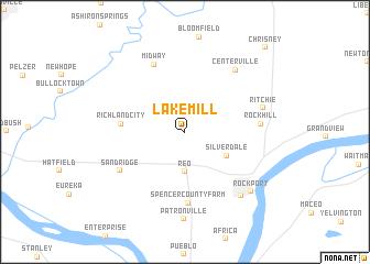 map of Lake Mill