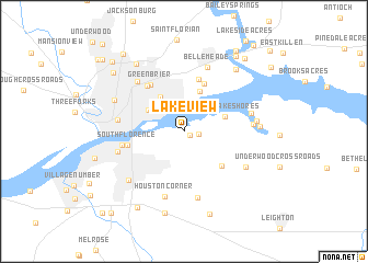 map of Lakeview