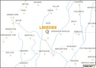 map of Lake View