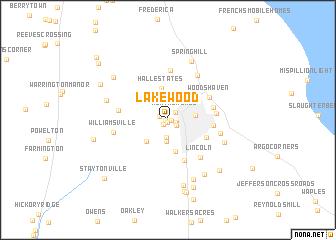 map of Lakewood