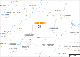 map of Lakewood