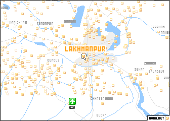 map of Lakhmanpur