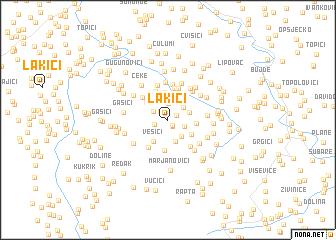 map of Lakići