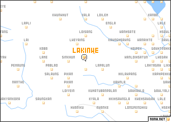 map of Lakinwe