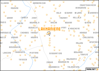 map of Lakmaniene