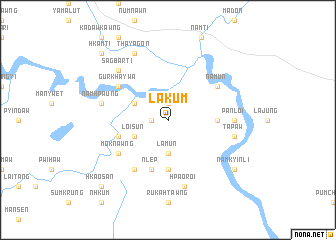 map of Lakum