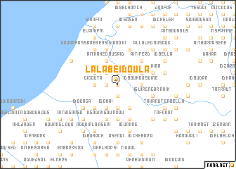 map of Lala Beïd Oula