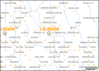 map of La Laguna