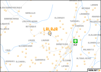 map of La Laja