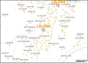 map of La Linda