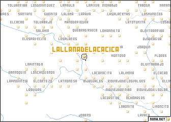 map of La Llana de la Cacica