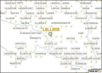 map of La Llana