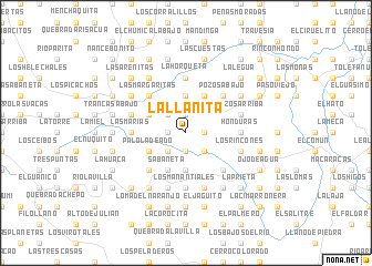 map of La Llanita