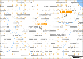 map of La Loma