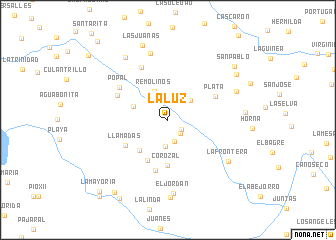 map of La Luz