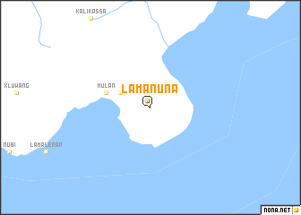 map of Lamanuna