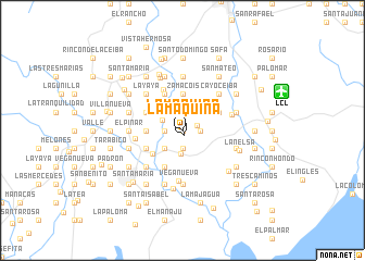 map of La Máquina