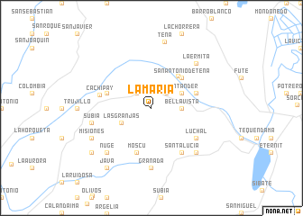 map of La María
