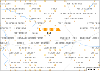 map of Lamaronde