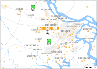 map of Lamarville