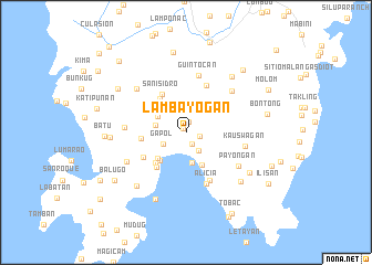 map of Lambayogan