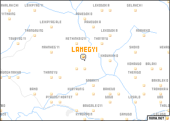 map of Lamegyi