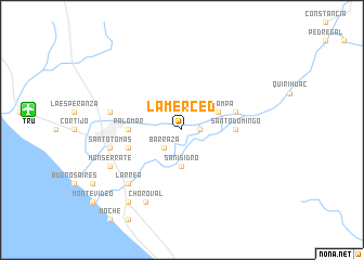 La Merced Peru map nonanet