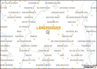 map of Lamerdingen