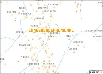map of La Mesada de Palmichal