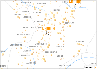 map of La Mina