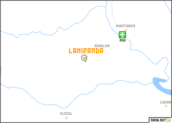 map of La Miranda