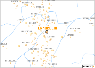 map of La Morelia