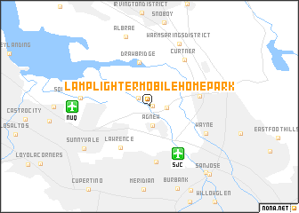 map of Lamplighter Mobile Home Park