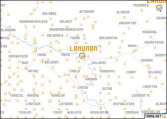 map of Lamunan