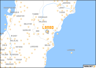 map of Lanao