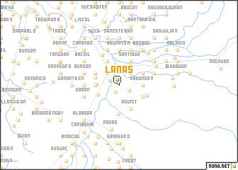 map of Lanas