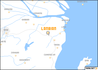 map of Lanbian