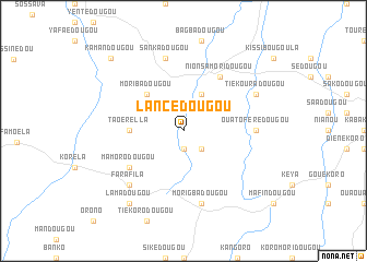 map of Lancédougou