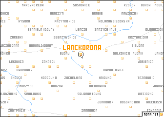 map of Lanckorona