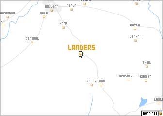 map of Landers