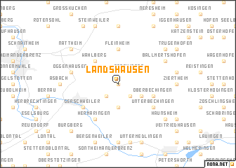 map of Landshausen