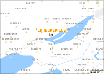 map of La Neuveville